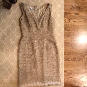 Dress- gorgeous goldish  fabric